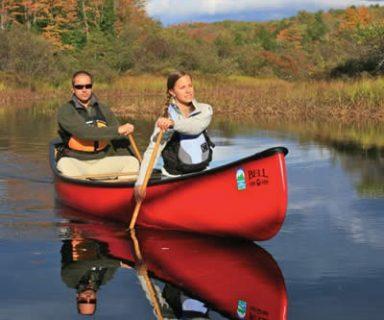canoe paddling fun